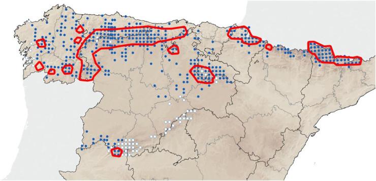 Galemys pyrenaicus distribucion distribution range Spain Espagne 500