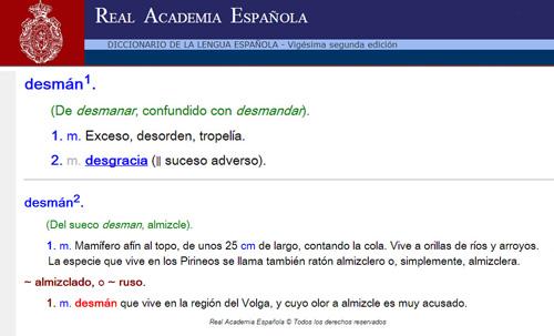 Galemys pyrenaicus acepciones desman castellano 500