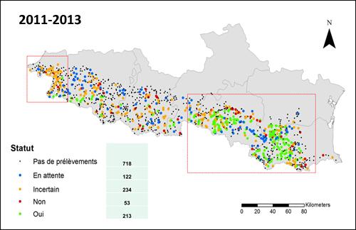 Distribución Galemys Francia 2011_13_2_500